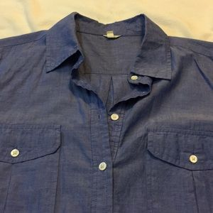 4729dc3d8d J. Crew Swim - J.Crew blue chambray button up tunic   cover up